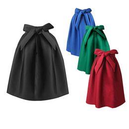 Wholesale Women Maxi Skirt Space cotton Emoire A Line Pure Colour Plus size S M L American Apparel Zipper Skirts Elegant High Waist Solid Color Dress