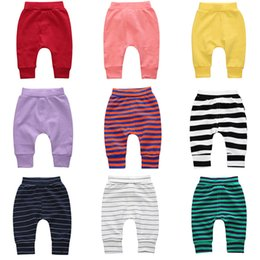 Wholesale Cartoon Waist - cartoon trouser pants wholesale harem leggings kids clothing Tights baby boys girls clothes loose Animal Unisex brand pants 744