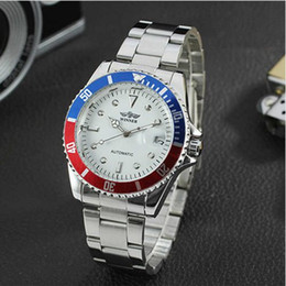 Wholesale Fashion Casual Mens Watches Top Brand Luxury Winner Full Stainless Steel Auto Day Dial Display Automatic Mechanical Wrist Watch