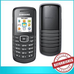Wholesale 10x SAMSUNG GT E1080 Network GSM Mini SIM Card inch Screen Flashlight Classic Long Lasting Standby Time Travel Cell Phones