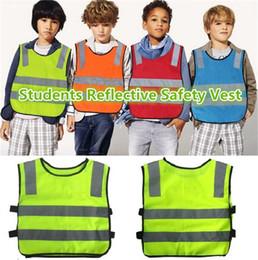 Wholesale New students reflective safety vest reflective safety vest coat Sanitation vest Traffic safety warning clothes vest Safety Vest