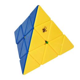 Dayan juguete en venta-2016 DaYan Pyraminx cubo de velocidad sin etiqueta Magic Cube rompecabezas juguetes para niños