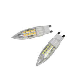 Wholesale 5W G9 LED bulb lamp luminous flux lm aluminum and plastic warm white light high lumen AC110V V44 stars lamp beads