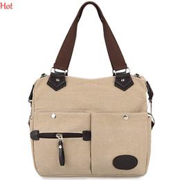 Vintage Canvas Handbag Women Shoulder Bag Fashion Casual Canvas Bags Designer High Quality Handbag Green Brown Beige Crossbody Bags SV029423
