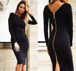 Wholesale 2016 Women Summer zipper Style Long sleeve skirt Maxi Beach Dress Maxi Dresses Sexy Elegant bohemian dress Plus Size Vestidos NSQ92