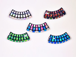 Wholesale & Retail Fashion Jewelry Fine Blue&White&Green&Brown&Multi Fire Opal Stone Silver Plated Pendants For Women PJ16060205