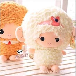 Wholesale 1pcs cm Anne Nicole sheep plush toy Stuffed sheep doll couple doll sheep Ram mascot doll gift items