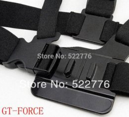 Wholesale Accesories Black Adjustment Elastic Body Chest Strap Mount Belt with J Hook Buckle for GoPro Accessories or Camera Hero1