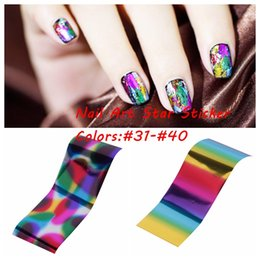 2016 New Transfer Foil Nail Art Star Style Design Stickers Polish Decals Care Many Colors #31-#40 DIY Glitter Beauty Nails Wraps