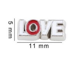 20PCS lot LOVE Letter Floating Locket Charms Fit For Glass Magnetic Memory Floating Locket Pendant Jewelrys Making
