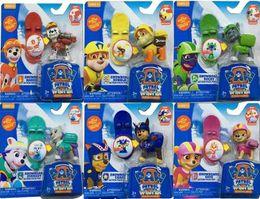 Wholesale 600pcs quot cm set Kids Toys Skateboard Puppy Dog Patrol Cartoon Action Figure Patrulla Canina PVC Toys Best Gift For Children