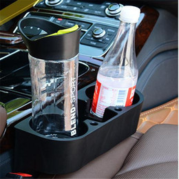 Wholesale Automotive Vehicle Multifunction Portable Two color Plastic Racks Car Phone Holder Cup Holder Spacer Glove Box Triple