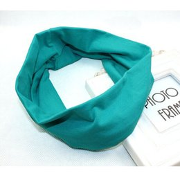 Wholesale Gros Green PC Femmes Filles Cotton Yoga Sport Bandeau stretch large Hairband Turban Armband Hot