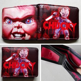 Movie Child's Play Chucky Logo wallets Purse Red 12cm Leather Man women New W170