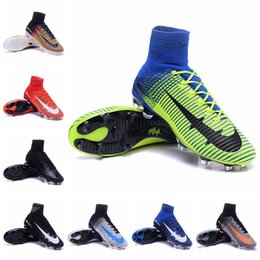 Mercurial Superfly V FG Mens Soccer Boots Kids Football Boots Womens Soccer Shoes Superflys Youth Soccer Cleats Children Football Shoes 2016