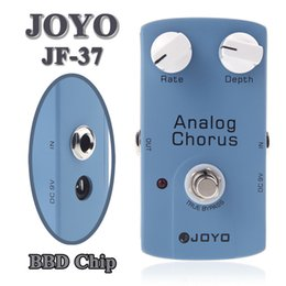 Wholesale ANALOG CHORUS BBD Chip Electric Guitarra Violao Guitar Effect Pedal JOYO JF with True Bypass Musical Instrument Parts