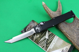 Wholesale Microtech Halo V Tanto Knife quot Satin single action auto Tactical knife Survival gear knives with kydex sheath New in box
