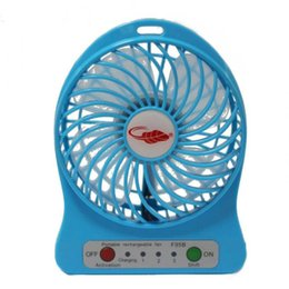 DHL Freeshipping F95B Portable Mini USB Fan Rechargeable Battery Operated LED Lamp for Indoor Outdoor Kids Table Mini Fan 20pcs Cheap