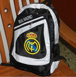 Wholesale Football fan Backpack Real Madrid Cristiano Ronaldo Gareth Bale Backpack School bag Real Madrid football club football backpack