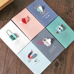Tarjetas de navidad baratos en Línea-Tarjeta de felicitación al por mayor barata del día de fiesta de la tarjeta de felicitación creativa coreana 3D Tarjeta de felicitación del festival de la tarjeta general de Navidad de Halloween 6 estilos