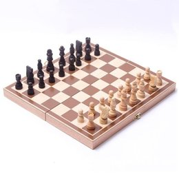 Wholesale Funny Folding Folable Wooden International Chess Set Board Game Funny Game Sports Entertainment
