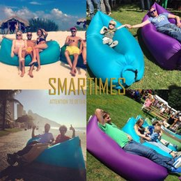 Wholesale inflatable lay bag sofa high quality air filled bed lamzac hangout Beach camping Sofa factory