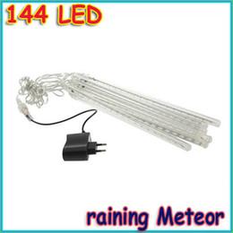 Des vacances mini-lumières à vendre-Gros-8pcs / set Tube 144 LED Blanc Mini Chutes de neige pluie lumière décoration Meteor noël vacances