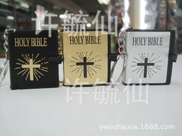 Wholesale Authentic Bible Jesus key chain English version of the Bible pendant special offer craft Bible cross factory