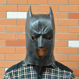 Wholesale New Hot Rubber Latex Batman Mask For Halloween Praty Holiday Deluxe Masks Costume