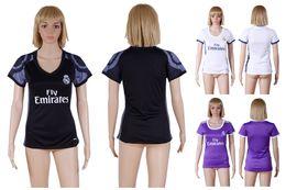 Wholesale 2017 Top Quality Womens soccer Jerseys Uniforms RONALDO JAMES BALE RAMOS ISCO MODRIC Spain Women Football Shirts