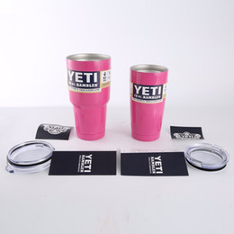 Wholesale In Stock Rambler Large Capacity OZ Yeti Stainless SteelTumbler Handle For Car American Style Travel Coffee Mug Tea Cups With Lid