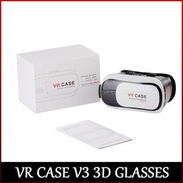 High quality VR CASE V3 3D Glasses view 3D movie and 3D game Perfectly compatible with 3.5-6 inch smartphone DHL freeshipping