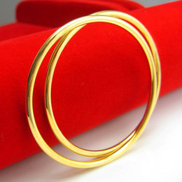 For a long time does not fade and the simulation of 999 gold gold bracelet smooth fine solid bracelet Vietnam Gold Wedding Jewelry