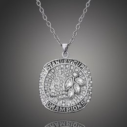 2015 chicago blackhawks pendant necklaces NHL National Hockey League championship for fans chain necklace men jewelry lcb277