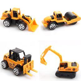 Wholesale 4Pcs Set Children s Toys Plastic Excavator Tractor Crane Mini Diecasts Vehicles Model Classic Car Toys For Boy