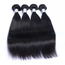 Extensiones brasileñas al por mayor del pelo de la Virgen 3 PC El pelo humano de Remy peruano indio malasio de la porción teje los paquetes sin procesar del pelo recto natural hair wholesale india for sale desde la india al por mayor del pelo natural proveedores