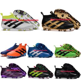 Wholesale ACE PureControl Soccer Cleats For Men Soccer Shoes Cheap New Soccer Boots Mens Football Shoes Ankle Football Boots Cleats Paul Pogba