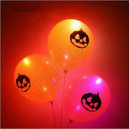 Wholesale New Fashion Halloween Party LED Latex Ballons Flashing Blingbling Wedding Decoration Party pumpkin Ballons CCA4758