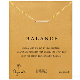 Wholesale Balance String Tassle Dogeared Necklace Balance Noble and Delicate Jewelry K Gold Plated Triangle Charm Necklace Christmas Gift