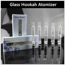 Pyrex Glass Water Atomizer - Newest Hookah Pen Smoking Pipes ecig Tank Dry Herb Wax Vaporizer Glass Shisha Atomizer for EGO Evod Battery