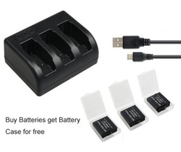 Usb gopro en Línea-3x1220mAh batería AHDBT-501 AHDBT501 Bateria + cargador USB de 3 ranuras para GoPro héroe 5