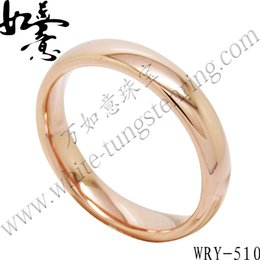 High Polish Half Round Rose Gold Tungsten Ring Jewelry Finger Ring for Womens WRY-510 Hot Sales 4mm