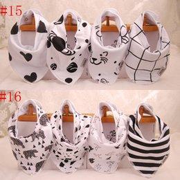 64 styles Baby INS cotton bibs 2016 Newborn KIDS Burp Cloths double layer girls boys cartoon animal owl watermelon pattern bibs 4pcs set