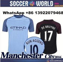 Wholesale Top Thai quality jerseys Manchester City soccer Jerseys home away with PL badge DZEKO KUN AGUERO KOMPANY TOURE YAYA DE BRUYNE ET21