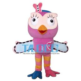Hot sale Pink Owl Mascot Costume adult Fancy Dress Character mascot costume