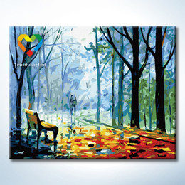 Wholesale Leisure Path Wall Art DIY Painting Baby Toys x50cm Digital Canvas Oil Painting Drawing Wall Art for Children with Green Acrylic