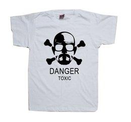 Wholesale T0028 Breaking Bad Shirt Walter White Bryan Cranston AMC Toxic Logo White T Shirt