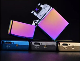 Wholesale New Arrival Windproof Lighters Metal Double Arc Pulse Charging Mercedes USB Key Electronic Lighter styles with gift box best