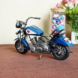 Wholesale Vintage Handmade Craft Iron made motorcycle model ornaments with colors Gifts or decoration of Home Bar display windows