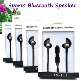 STN-111 HiFi Deep Bass Bluetooth Headphone Wireless Stereo Headset Sports Bluetooth Neckband Earphone Bluetooth With Retail Package